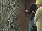 reine Elisabeth visite studios Game Thrones