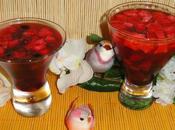 Verrine rose gelee fruits rouges