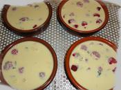 Petites cremes mascarpone, framboises basilic