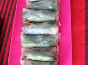 Petits rouleaux d'été (poulet-coriandre-avocat-tomate séchée)
