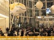 Booster ventes offline online avec borne WiFi volante