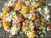 Salade boulgour, quinoa, abricots, noisettes feta
