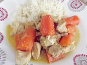 Tajine poulet carottes orange