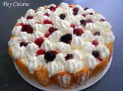 L'estival charlotte bavarois fruits rouges chantilly