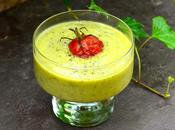 Velouté froid courgettes menthe