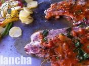 Plancha côtes porc provençale