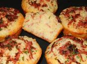 Muffins fromages râpé lardons fumés