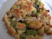Crumble courgettes lardons parmesan