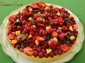 Tarte Basilic Mangue Fruits Rouges Crumble chocolat