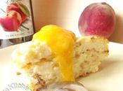 Gâteau fromage blanc aromatisé pêche