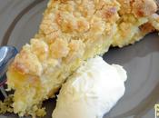Crumble cake rhubarbe