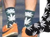 Style Efron wearing marijuana leaf socks