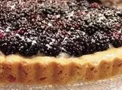 Tarte sablage Rhum purée d'amandes, confiote Myrtilles, compote Pommes/vanille Mûres fraîches