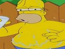 Homer Simpson participe Challenge IceBucket