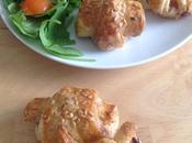 Minis croissants poulet tomates séchées