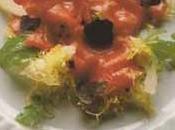 Carpaccio d'aloyau vinaigrette truffes salade roquette mimosa