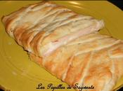 Tresse feuilletée jambon dinde fromage raclette