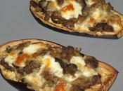 Aubergines farcies champignons mozzarella