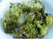 brocolis sautés sauce soja sésame