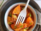Tempeh mariné gingembre Sauce clémentine épices douces