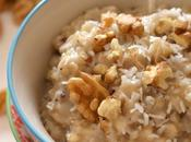 Porridge végétal flocons d'avoine, noix coco