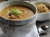 ~Potage courge, haricots blancs garniture quinoa herbes fraîches~