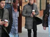 STYLE :Nick Jonas with superb tweed coat