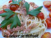 spaguetti tomates cerises herbes aromatiques