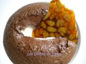 Mousse chocolat chaude, glace vanille nougatine pignons pinMousse