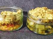 Crumble courgette crumble tomate jambon champignons