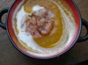 Velouté potiron bacon miel