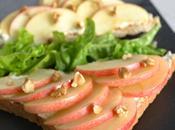 Tartines roquefort, pomme noix