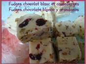 Fudges chocolat blanc pistaches canneberges (Thermomix) chocolate blanco pistachos arandanos