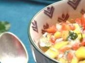 Sauce mangue poivron rouge pour viande grillée crevette