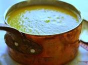 Soupe potiron, lentilles corail, curry lait coco