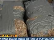achète Playstation mais boite contient cailloux