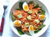 Recette salade croquante carottes cacahuètes avocat