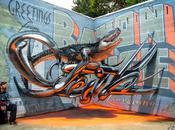 Anamorphose graffiti travail d'Odeith Street