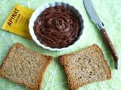 tartinade diététique allégée cacao Apinat avec Sukrin seulement kcal (sans sucre beurre ajoutés)
