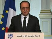 Intervention François HOLLANDE Adresse Nation suite événements janvier 2015
