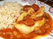 Aiguillettes poulet chorizo haricots tomate