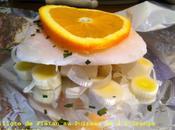 Papillote Flétan Poireau l'Orange