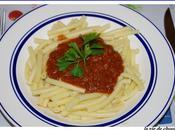 Macaronis sauce tomates calamars