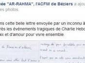 ESPOIR: Grande Mosquée Béziers reçoit lettre touchante…