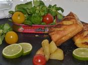 Sandwichs Fondue Poivrons Sardines façon Pain Perdu.
