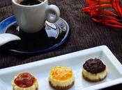 Mini cheesecake caramel,oranges amères ganache chocolat noisettes