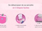 ShredPad, déchiqueteur serviettes hygiéniques portable Nana