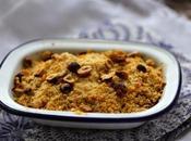 Crumble cabillaud poireaux chorizo ,noisettes crumble with leeks hazelnuts