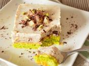 Moelleux pistache mousse poires chocolat