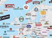 bières plus populaires monde (carte)